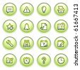 Organizer web icons on gray buttons. - stock vector