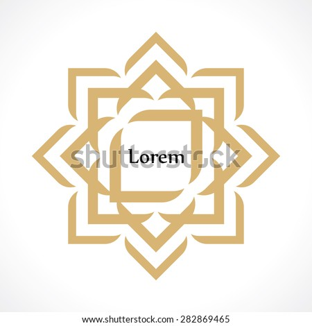oriental arabic pattern in the form of a flower - stock vector