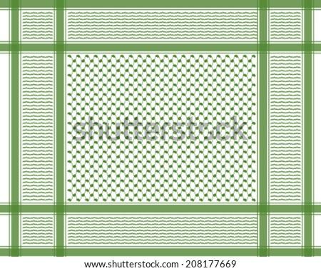 oriental arabic scarf pattern - stock vector