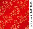 Oriental Chinese New Year cherry blossom seamless pattern background - stock vector