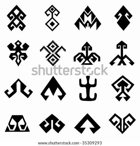 oriental design elements - stock vector