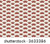 oriental red scallop pattern (vector) - illustrated background - stock vector