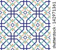 Oriental traditional ornament, Moroccan seamless pattern, tile design, vector illustration - stock photo