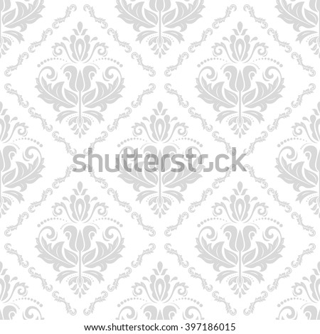Oriental vector classic bright ornament. Seamless abstract background with repeating elements - stock vector