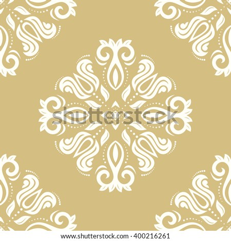 Oriental vector classic ornament. Seamless abstract background with repeating elements.