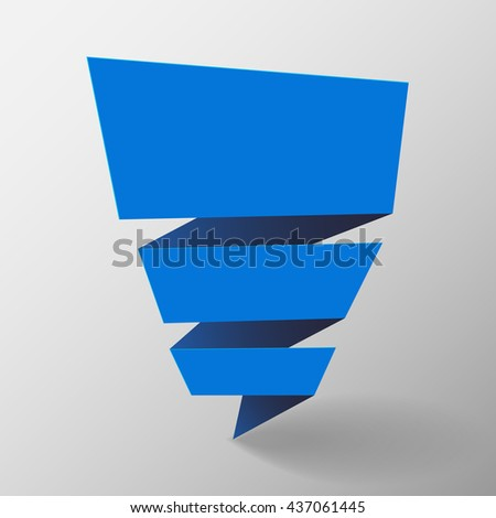 Origami banner. Vector illustration. - stock vector