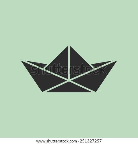 Origami Boat Stock Vector 251327257
