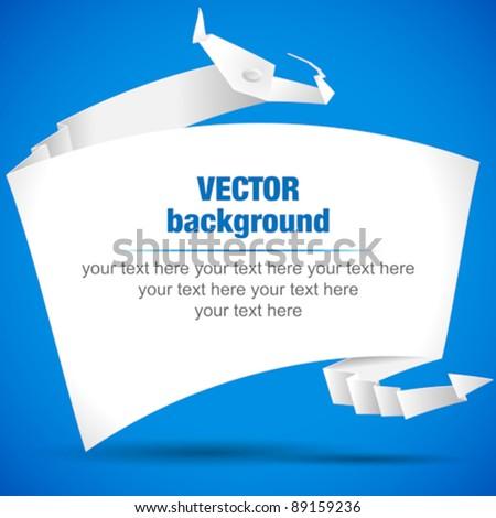 origami dragon speech bubble. Vector banner - stock vector