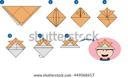 Origami Hat Stock Vector 449068657 Shutterstock