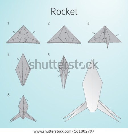 Origami Paper Rocket Instructions For Assembly