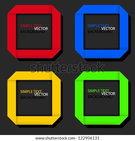 origami paper speech vector background on black background eps10 for design - stock vector