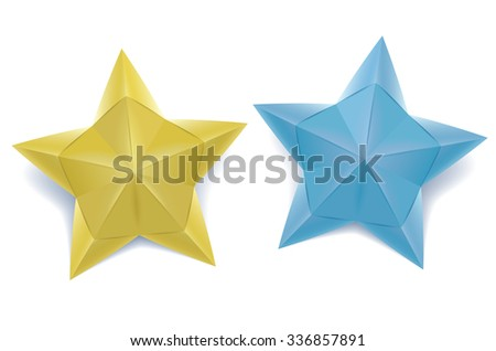 Origami Stars Stock Vector 336857891 Shutterstock