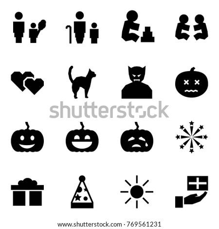 Origami Style Icon Set Mother Daughter Stock Vector 769561231