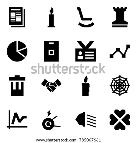 Origami Style Icon Set Newspaper Vector Stock Vector 785067661