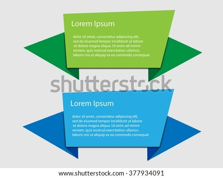 Origami vector infographic banner with place for your text
