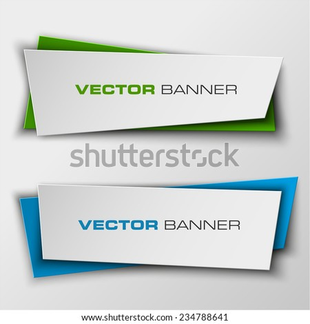 Origami Vector infographic colorful banners set. Web banner. Banner vector. Web banner designs. Web banner template. Banner design. Banner template. Banner background. paper banner. New color - stock vector