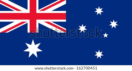 original and simple Australia flag isolated vector in official colors and Proportion Correctly - stock vector