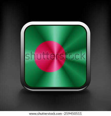 original and simple Bangladesh flag isolated vector in official colors Proportion Correctly - stock vector