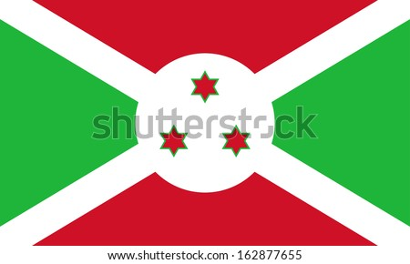 original and simple Burundi flag isolated vector in official colors and Proportion Correctly - stock vector