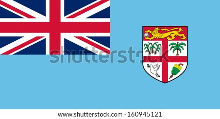 original and simple Fiji flag isolated vector in official colors and Proportion Correctly