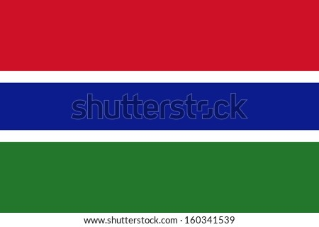 original and simple Gambia flag isolated vector in official colors and Proportion Correctly - stock vector