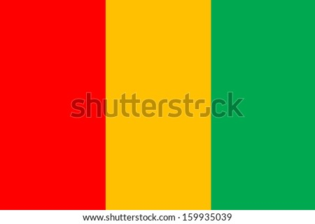 original and simple guinea flag isolated vector in official colors and Proportion Correctly - stock vector