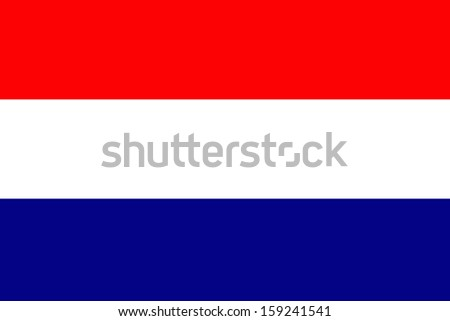 original and simple Nederlands, Netherlands or Holland flag isolated vector in vivid colors  and Proportion Correctly