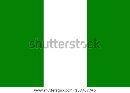 original and simple Nigeria flag isolated vector in official colors and Proportion Correctly - stock vector