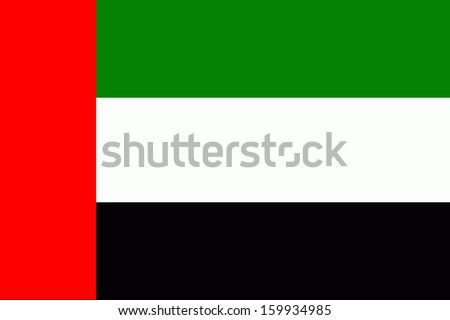 original and simple of the United Arab Emirates flag isolated vector in official colors and Proportion Correctly - stock vector