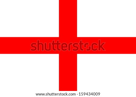 original and simple Republic of The England flag isolated vector in official colors and Proportion Correctly - stock vector