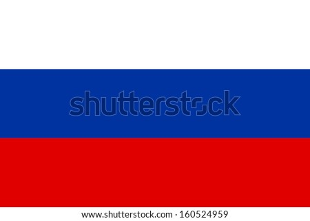 original and simple Russia flag isolated vector in official colors and Proportion Correctly
