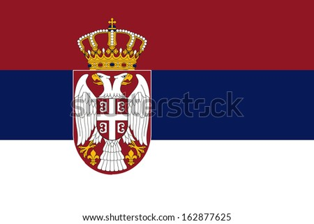 original and simple Serbia flag isolated vector in official colors and Proportion Correctly - stock vector