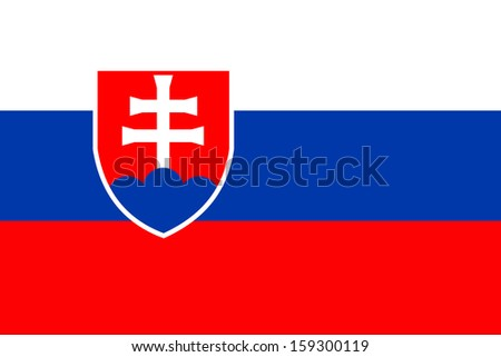 original and simple Slovakia flag isolated vector in official colors  and Proportion Correctly - stock vector