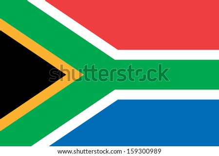 original and simple South Africa flag isolated vector in official colors  and Proportion Correctly - stock vector