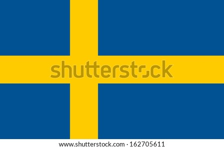 original and simple Sweden flag isolated vector in official colors and Proportion Correctly