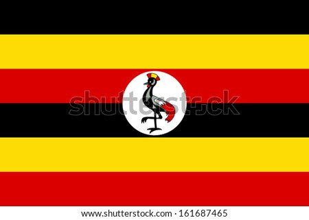 original and simple Uganda flag isolated vector in official colors and Proportion Correctly - stock vector