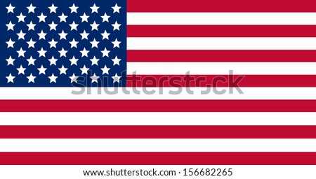 original and simple United State of America flag isolated vector in official colors  and Proportion Correctly USA