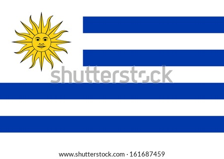 original and simple Uruguay flag isolated vector in official colors and Proportion Correctly