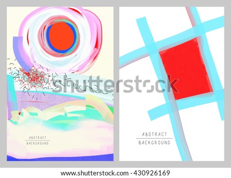 original artistic abstract creative universal design, you can use this artwork print in interior, page decoration, packing, poster, card, invitation, placard, brochure, flyer, book, vector image - stock vector