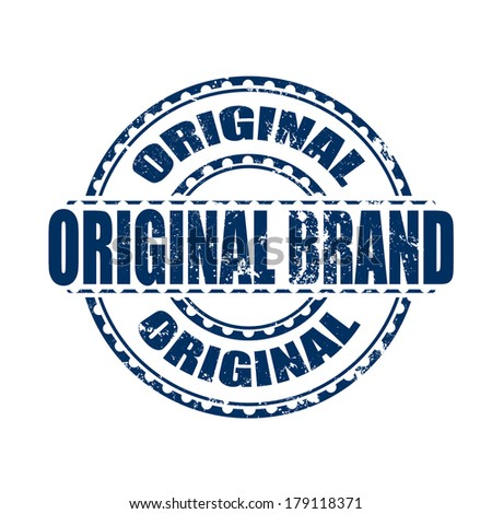 original brand grunge stamp whit on vector illustration