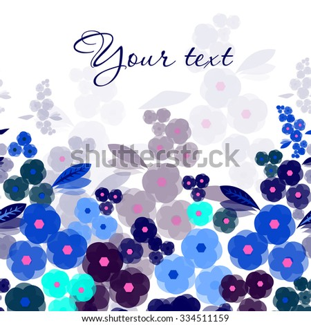 Original bright floral banner for life events. Card with space for your text. Vector illustration - stock vector