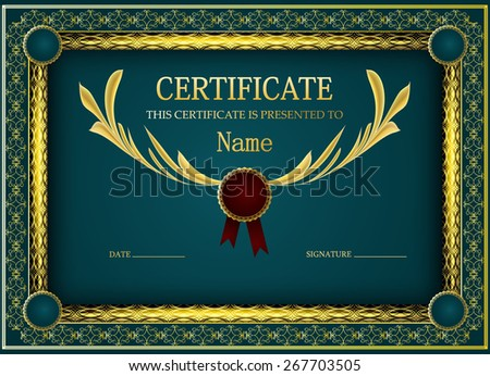 original certificate template - stock vector