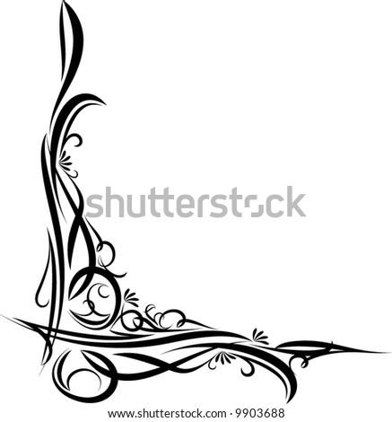 original decorative corner - stock vector