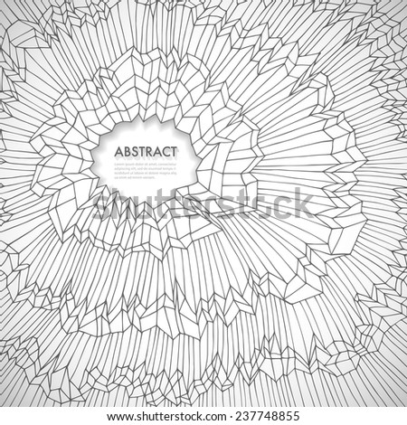 Original hand drawn abstract background with space for Your text, vector eps10 illustration - stock vector