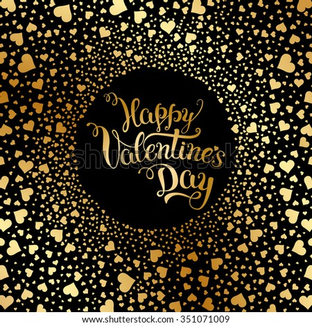 """Original hand lettering """"Happy Valentine's day"""". Vector illustration for Valentine's day posters, icons, Valentine's day greeting cards, Valentine's day print and web projects. - stock vector"""