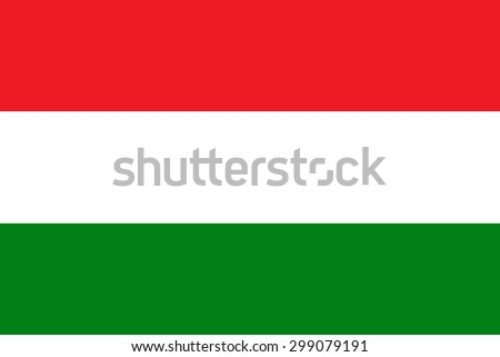 Original Hungary flag vector in official format and true colors. - stock vector