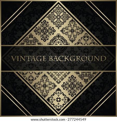 Original invitation. Vintage background. Decorative elements        - stock vector