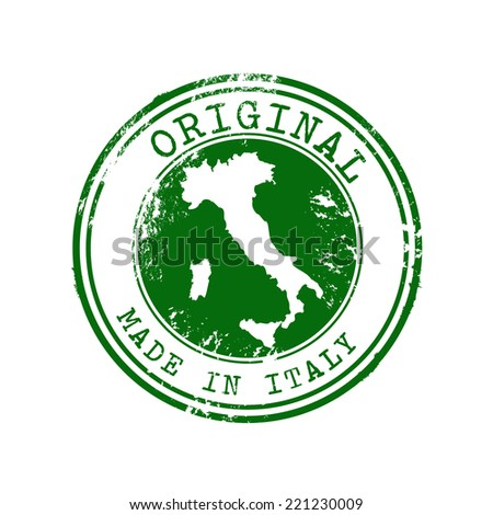 Original Made in Italy Vector Stamp  - stock vector