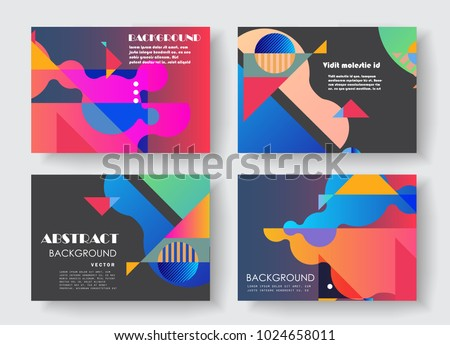 Original Presentation Templates Creative Flyer Leaflet Stock Vector