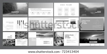 original presentation templates easy use creative stock vector, Presentation templates